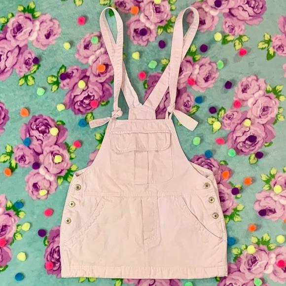 Urban Behavior Denim - White Denim Overall Skirt Dress Urban Behavior S